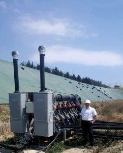 Discariche, la macchina che capta il biogas