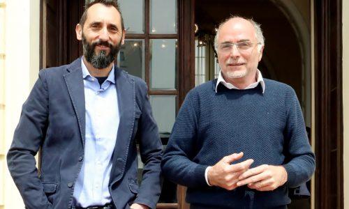 RAVAGLIA 17/05/2019 CESENATICO CONFARTIGIANATO E  FEDERAZIONE CICLISTICA ITALIANAPRESENTANO IL PROTOCOLLO D'INTESA SULLA MOBILITA'  E LA VALORIZZAZIONE DEL TERRITORIO nella foto Alan Sacchetti, presidente Confartigianato Cesenatico e Mauro Moschini, responsabile sede Cesenatico Confartigianato